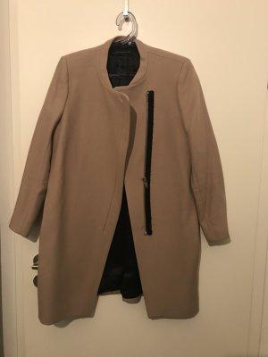 Zara Manteau en laine beige-chameau