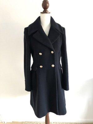 Zara Mantel coat dunkelblau talliert Größe L M 38 40