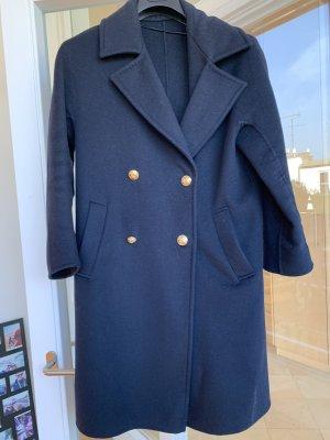 Zara Oversized Coat dark blue-gold-colored