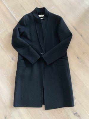 ZARA BASIC DAMEN Mantel blau gemustert Gr. XL, Neu ohne