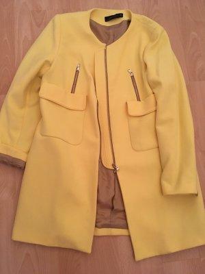 Zara Mantel gelb, gelber Mantel von zara