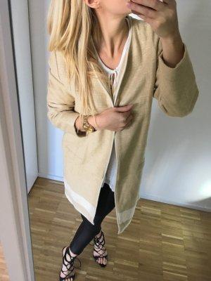 Zara Mantel gewebt Nude 36 S Trenchcoat Oversize