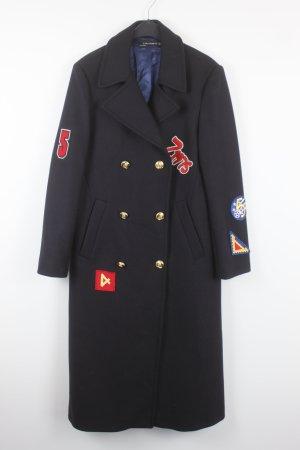 Zara Woman Manteau long noir-bleu foncé
