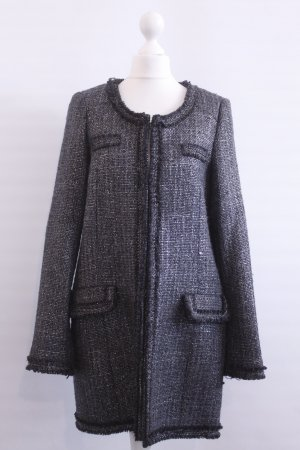 Zara Mantel Gr. M grau silber
