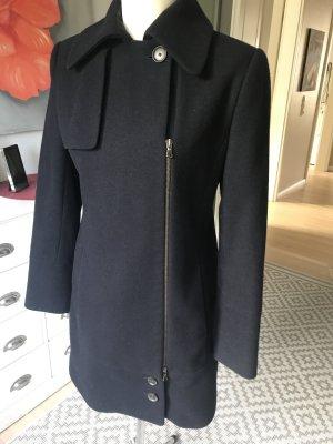 Zara Mantel Gr M mit Reißverschluss blau