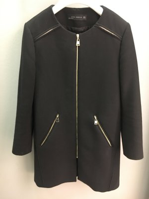 Zara Heavy Pea Coat black