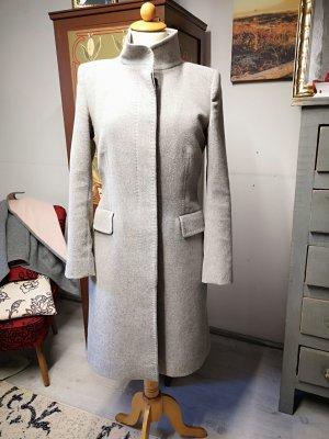 Zara Woman Abrigo corto gris claro
