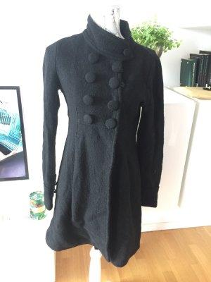 Zara Mantel Gr S schwarz mit großen Knöpfen