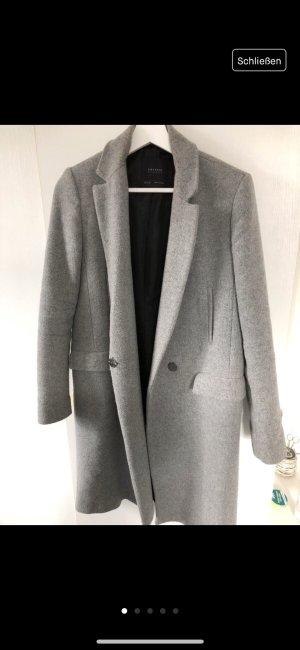 Zara Manteau gris clair-gris