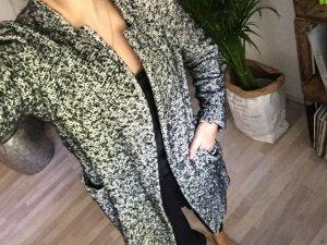 Zara Mantel grau/ schwarz