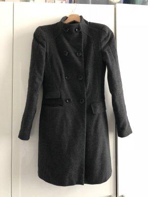 Zara Mantel grau Wolle