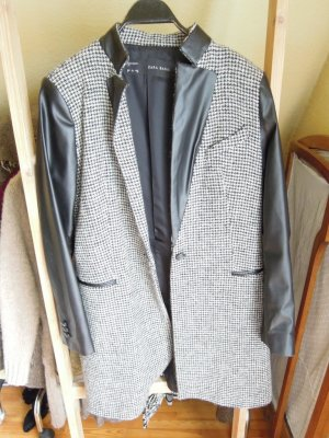 Zara Manteau blanc-noir