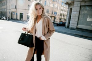 Zara Manteau en laine multicolore