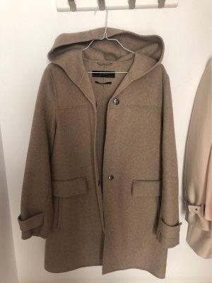 Zara Basic Abrigo con capucha beige