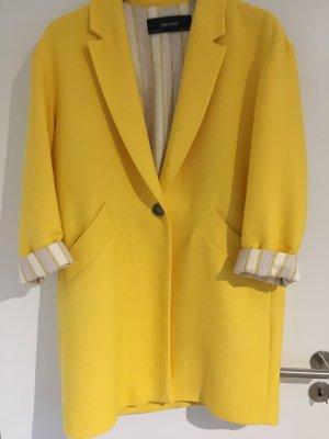 Zara Mantel in gelb mit Reverskragen (Größe S)