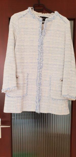Zara Giacca in eco pelliccia azzurro-bianco