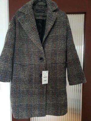 Zara Manteau d'hiver gris anthracite-noir