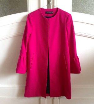 Zara Chaqueta larga rojo frambuesa-magenta