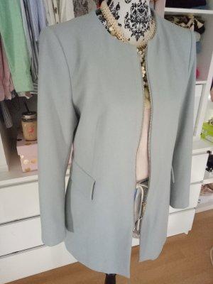 Zara Mantel Jacke Grau Blau Hellblau L 38 40