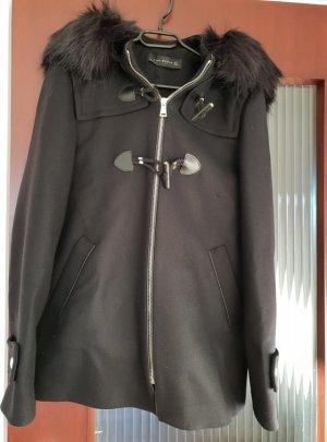 Zara Mantel Jacke schwarz