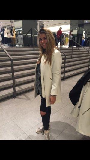 Zara Mantel Jacke weiß Creme neu