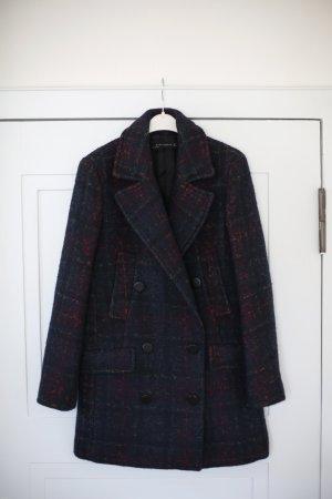 Zara Mantel kariert Boyfriend Schnitt Oversized Gr. S/M Blogger Vintage Stil