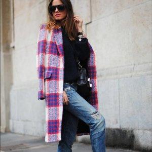 Zara Mantel Karo kariert M 38 40 Blogger