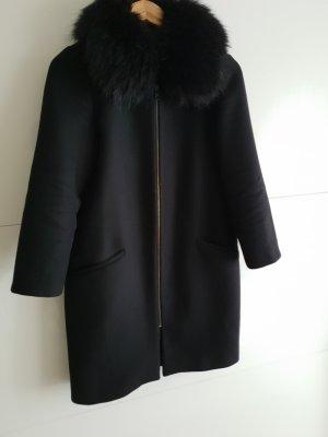 Zara Mantel mit Pelz kragen