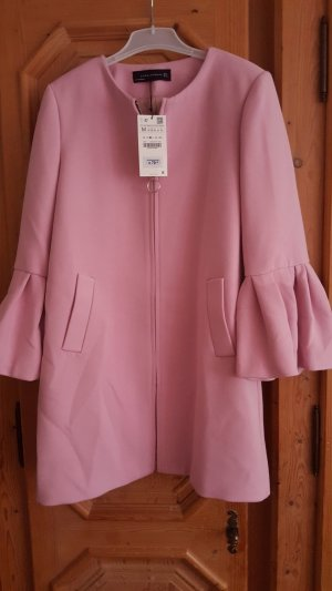 Zara Heavy Pea Coat light pink