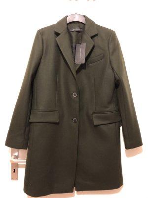 Zara Abrigo verde oscuro-verde oliva