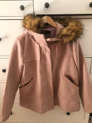 Zara Abrigo de piloto rosa-rosa claro