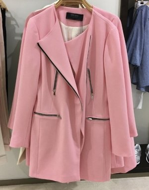 Zara Manteau mi-saison rose