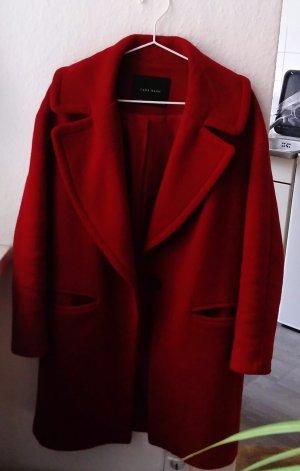 Zara Cappotto taglie forti rosso scuro-rosso mattone