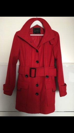 Zara Mantel rot Wolle