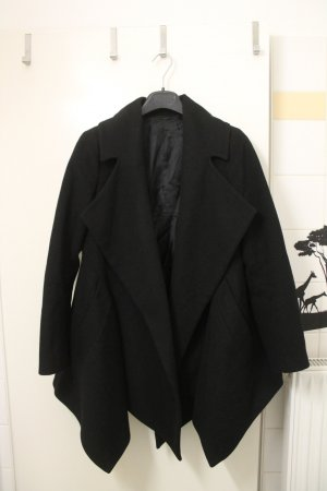 Zara Mantel schwarz 100% Wolle M oversized