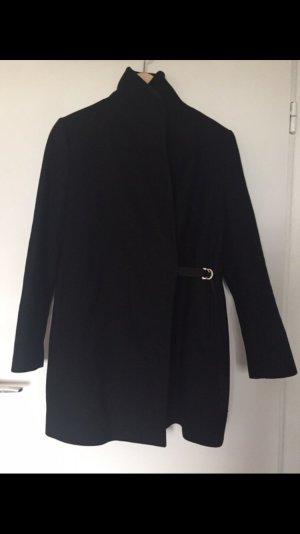 Zara Mantel Schwarz Größe S