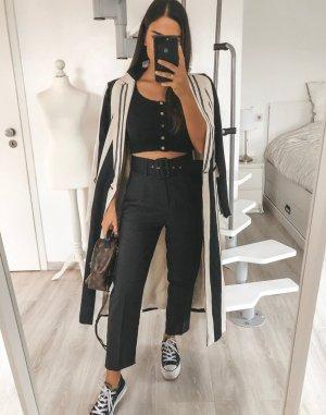 Zara Abrigo blanco-negro
