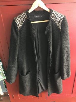 Zara Mantel Tweed Gr L mit Straßsteinen