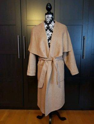 Zara Mantel Wasserfallkragen S Camel Handmade Oversized