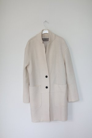 Zara Pea Coat cream-natural white
