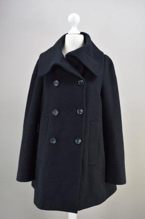Zara Mantel Wintermantel schwarz Größe S