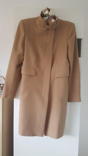 Zara Woman Abrigo de entretiempo multicolor Lana