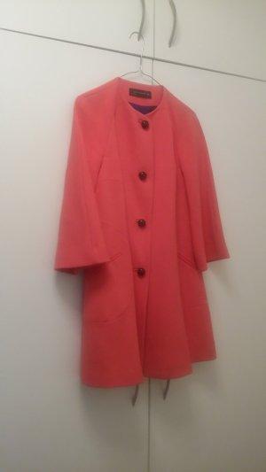 Zara Manteau mi-saison rouge clair laine