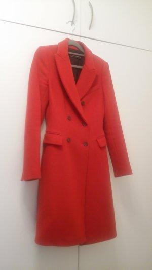 Zara Manteau d'hiver rouge brique laine