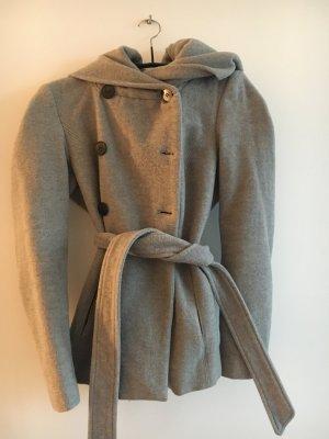 Zara Mantel XS grau mit Kapuze