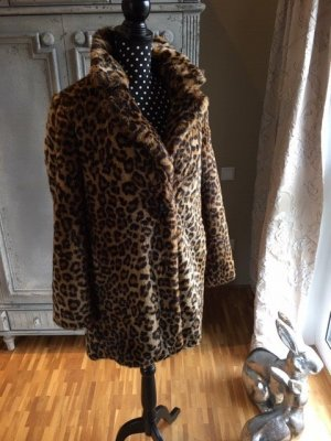 Zara Trafaluc Fake Fur Coat multicolored fake fur