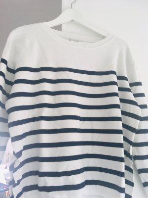 Zara maritim Pullover in Größe S, mit raffinierten seitlichen Schlitzen