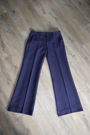 Zara Marlene Trousers dark blue-blue mixture fibre