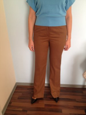 Zara High Waist Trousers brown viscose