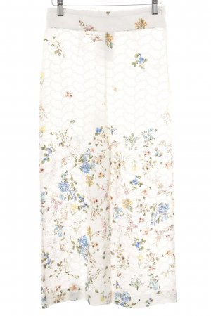 Zara Marlene Trousers natural white flower pattern street-fashion look